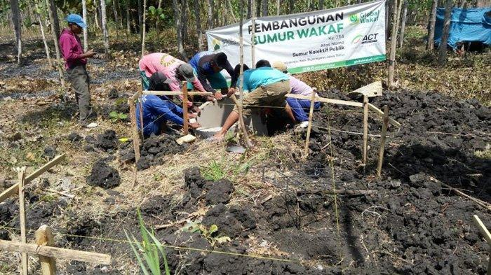Global Wakaf-ACT Salurkan Bantuan Sumur Wakaf, Solusi Jangka Panjang Kekeringan