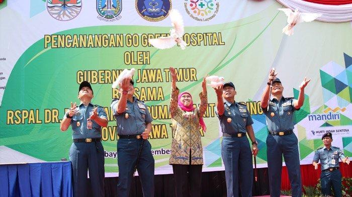Gubernur Khofifah Canangkan Go Green Hospital RSPAL Dr Ramelan Bersama 40 RS Mitra Jejaring