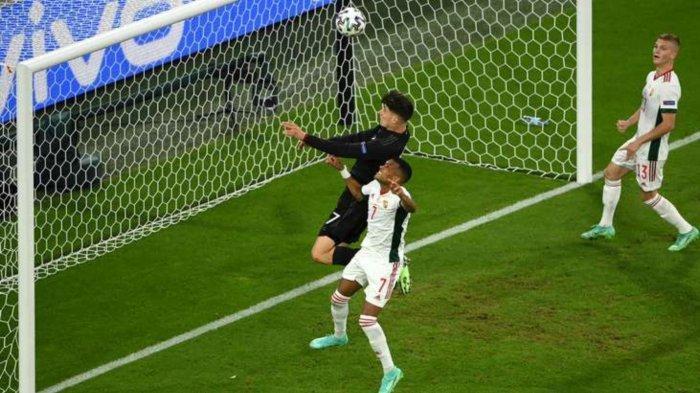 Kai Havertz mencetak gol pada laga Jerman vs Hungaria, Kamis (24/6/2021)