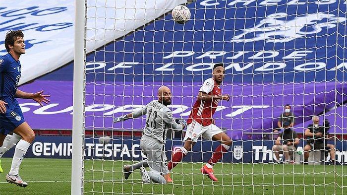 Hasil Final FA CUP Arsenal vs Chelsea: Skor Akhir 2-1, Dua Gol Aubameyang Antar The Gunners Juara