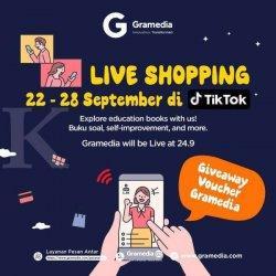 Gramedia Gelar Kampanye Live Shopping Besar-besaran di Tik Tok