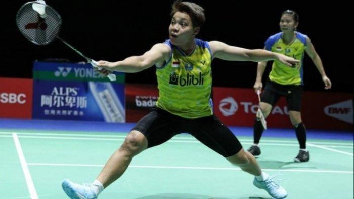 Greysia Polii/Apriyani Rahayu vs Rachel Hondrich/Kristen Tsai.  Saksikan selengkapnya melalui Link Live Streaming TVRI BWF World Tour Finals hari ini