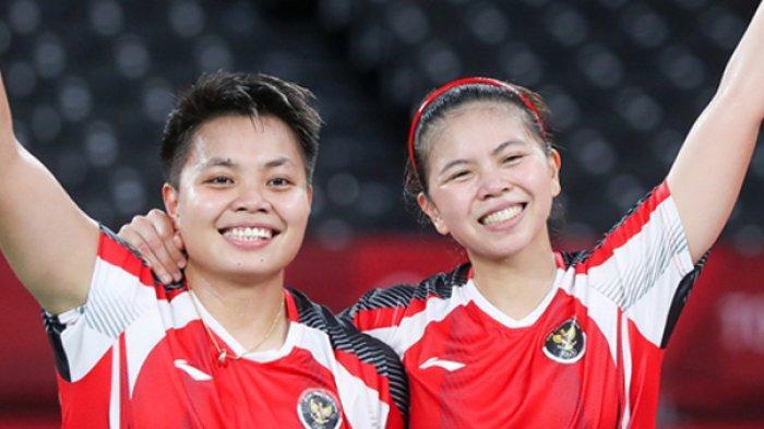 Pasangan Greysia Polli/Apriyani rahaya berpotensi meraih medali emas Olimpiade Tokyo 2020 saiang ini. Mereka akan menghdapi wakil China di final