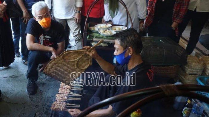 Gubernur Jateng Ganjar Pranowo Incip Kuliner Sate Ayam Ponorogo dan Dawet Gempol Jabung