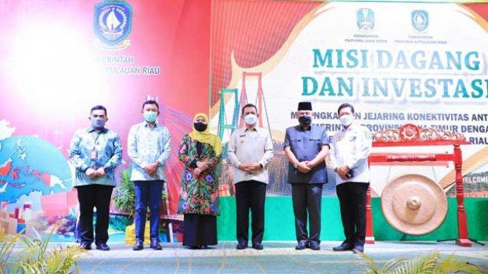 Khofifah Gelar Misi Dagang dengan Kepulauan Riau Demi Produk Jatim Banyak Dieskpor ke Malaysia