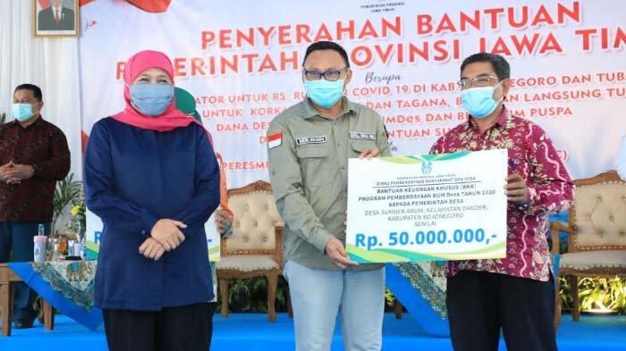 Percepat Pemulihan Ekonomi, Gubernur Khofifah Kucurkan 28 Miliar Lebih untuk Jatim Puspa dan BUMDes