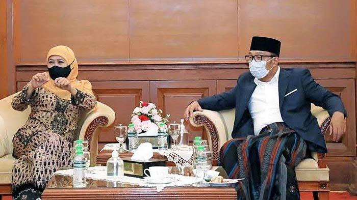 Gubernur Khofifah Minta Kang Emil Bantu Desain Ulang Masjid Islamic Center Surabaya Menjadi Indah