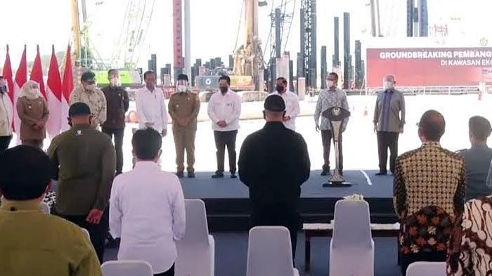 Presiden Jokowi Resmikan Pembangunan Smelter di Gresik, Khofifah: Hadiah Terindah HUT Jatim Ke-76
