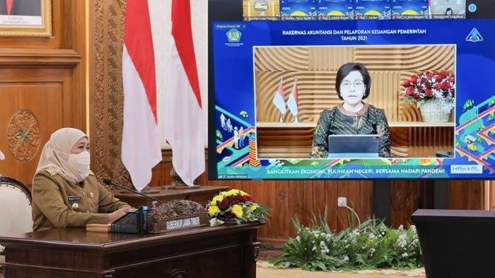 Menteri Keuangan Sri Mulyani Apresiasi Pemprov Jatim Raih WTP Lebih dari Lima Kali