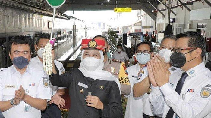 Gubernur Khofifah Luncurkan KA Baru Argo Bromo Anggrek, Surabaya-Jakarta Hanya 8 Jam 10 Menit