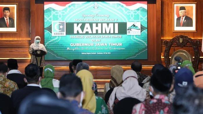 Buka Muswil KAHMI, Gubernur Khofifah Tunggu Rekomendasi Strategis untuk Pembangunan Ekonomi Jatim