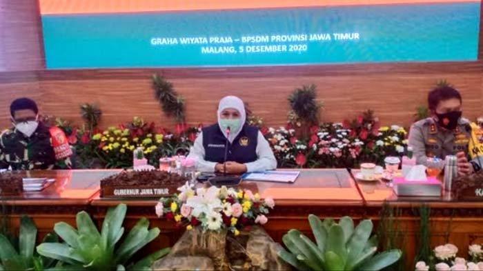 Respons kembali Naiknya Kasus Covid-19, Gubernur Jatim Khofifah Gelar Rakor