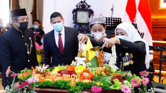 Jatim Jadi Percontohan Pengendalian Covid-19 Nasional, Khofifah: Kado Tercettar di Hari Jadi Jatim