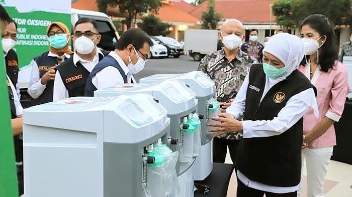 Gubernur Khofifah Kirim 5 Unit Oksigen Konsentrator untuk Atlet Jatim yang Berlaga di PON Papua