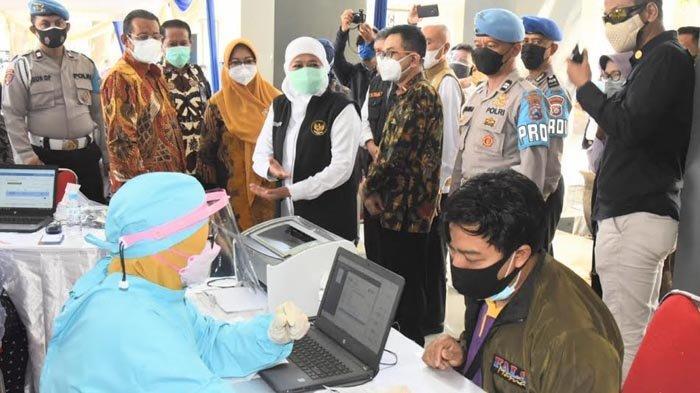 Capaian Vaksinasi Kota Surabaya dan Mojokerto Sudah 70% Lebih, Khofifah Terus Kejar Herd Immunity