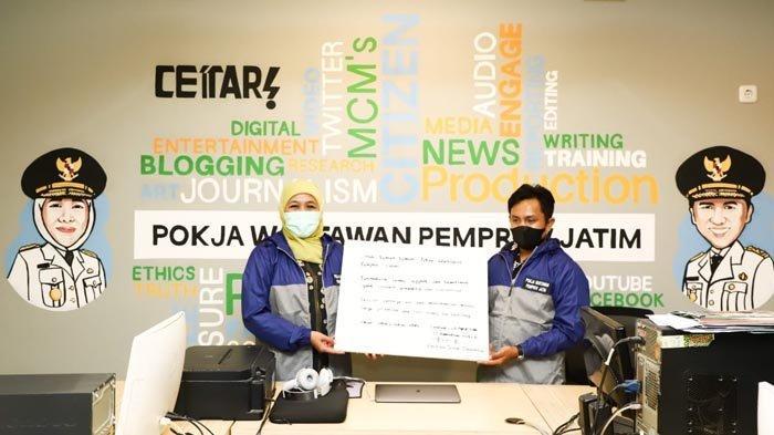 Resmikan Press Room 'Instagrammable' Gubernur Khofifah Ajak Wartawan Makin Profesional dan Produktif