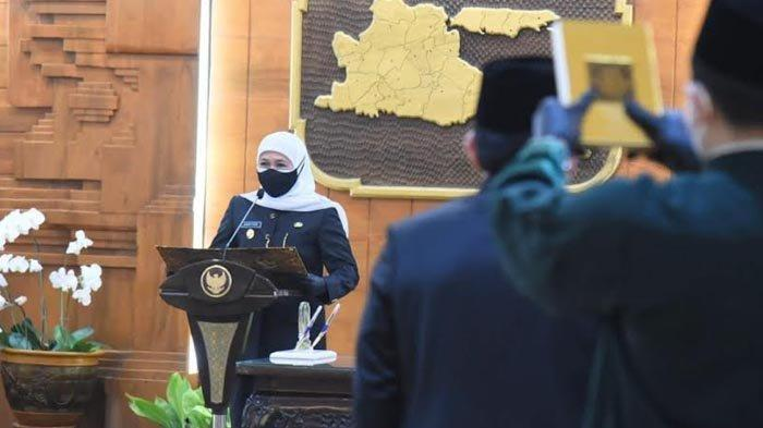 Gubernur Khofifah Rotasi dan Mutasi 16 Pejabat Eselon Dua Pemprov Jatim