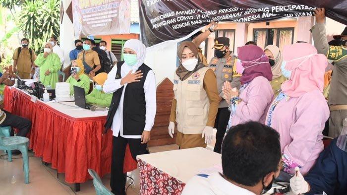 Gubernur Khofifah Minta Semua Pihak Maksimalkan Vaksinasi Covid-19 Saat PPKM Darurat di Jatim