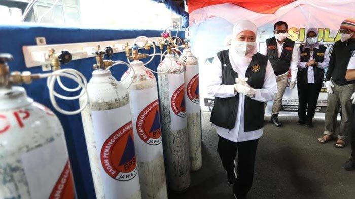 Gubernur Khofifah Resmikan Depo Isi Ulang Oksigen Gratis di Surabaya, Bisa Diakses 24 Jam