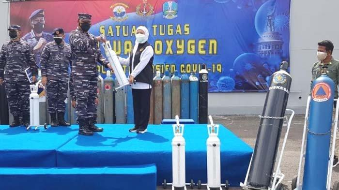 TNI AL Buka Depo Isi Ulang Oksigen Gratis di Pertokoan Jalajaya Surabaya
