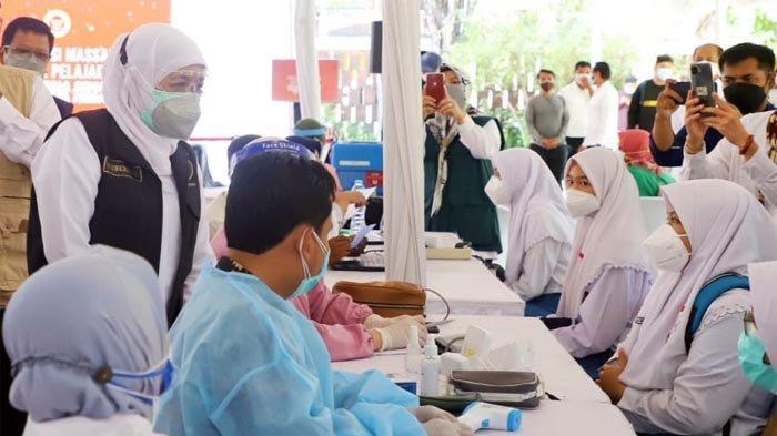 Provinsi Jatim Kejar Herd Imunity Pada HUT RI Ke -76, Percepat Vaksinasi Covid-19 untuk Pelajar