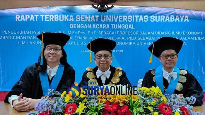 Ubaya Kukuhkan 2 Guru Besar FEB Baru, Rektor: Dukung Dosen Raih Level Profesionalitas Tertinggi