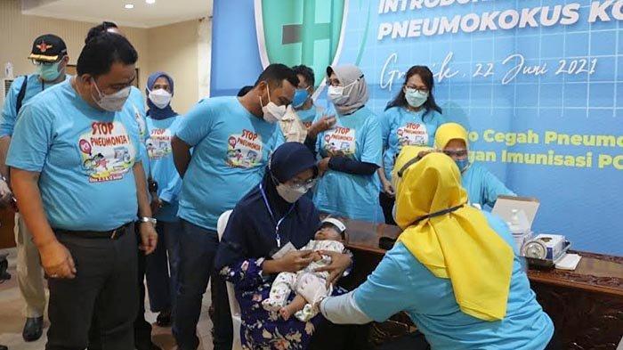 Kabupaten Gresik Menjadi Daerah Perdana Pencanangan Imunisasi PCV Tahun 2021