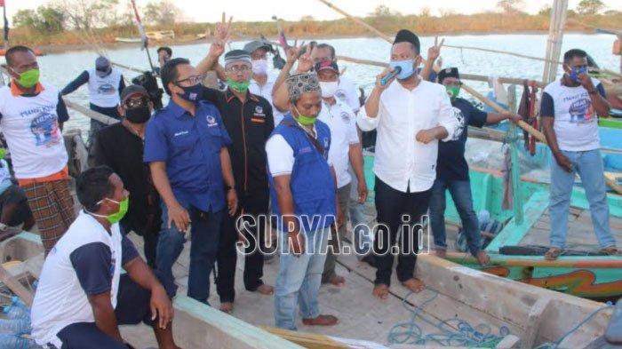 Pilbup Gresik 2020, Ratusan Nelayan Ujungpangkah Beri Dukungan untuk Gus Yani-Bu Min