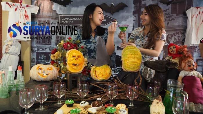 Kuliner Halloween Hotel Gunawangsa Manyar, Ada Cupcake Zombie dan Buah Bentuk Penyihir