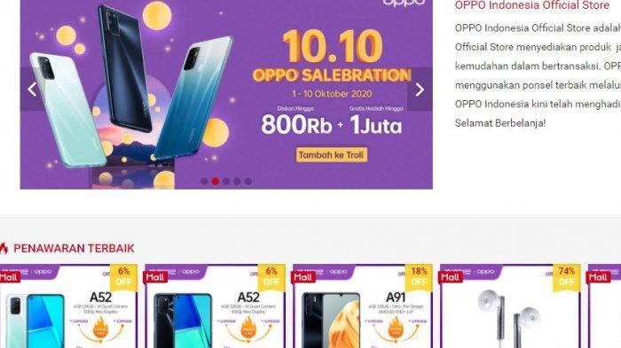 PUNCAK HARBOLNAS, Ini Daftar Harga HP Oppo, Xiaomi, Samsung di Shopee, Diskon Besar-besaran