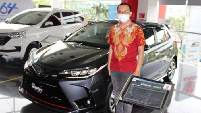 Sales SPV Toyota Auto2000 Kertajaya, Bayu, saat ditemui TribunJatim.com, Minggu (7/3/21).