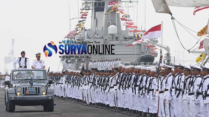 Galeri Foto Upacara Hari Armada RI 2019 di Surabaya, TNI AL Perkenalkan Kapal Selam Alugoro-405