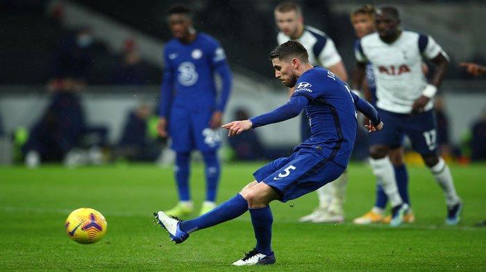 Hasil dan Klasemen Liga Inggris: Chelsea Tumbangkan Tottenham, Cara Jorginho Cetak Gol Dipuji
