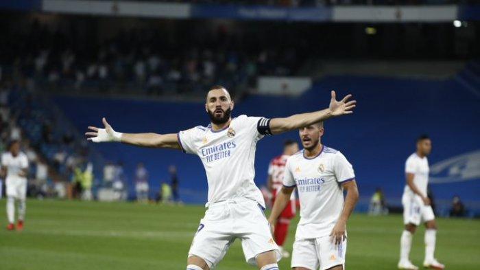Hasil dan Klasemen Liga Spanyol - Hattrick Karim Benzema Bawa Real Madrid ke Puncak