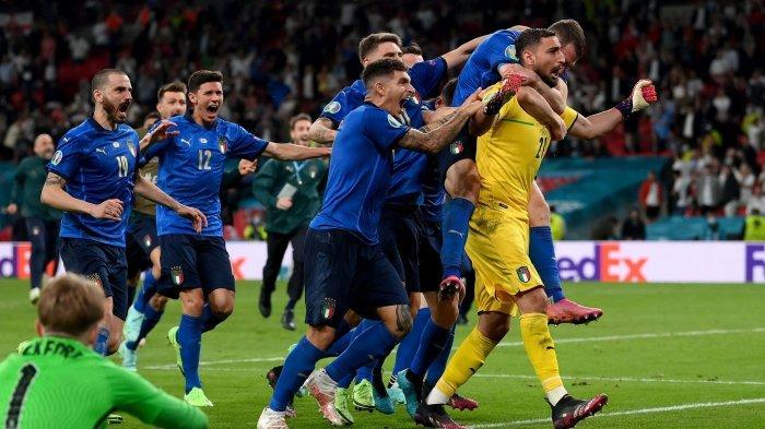 Hasil Final Euro 2020 Italia vs Inggris: Donnarumma Pahlawan, Azzurri Juara Lewat Drama Adu Penalti