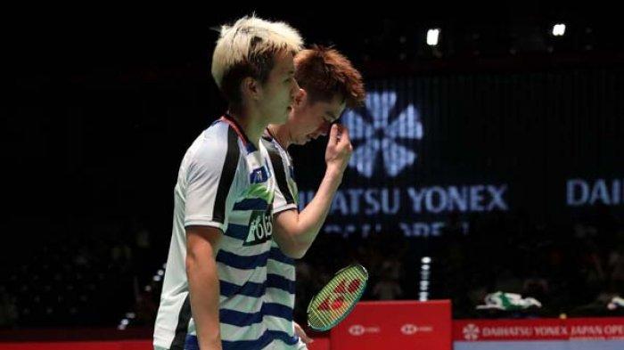 Hasil Final Japan Open 2018, Perjalanan Mulus Marcus Gideon /Kevin Sanjaya Pertahankan Gelar Juara