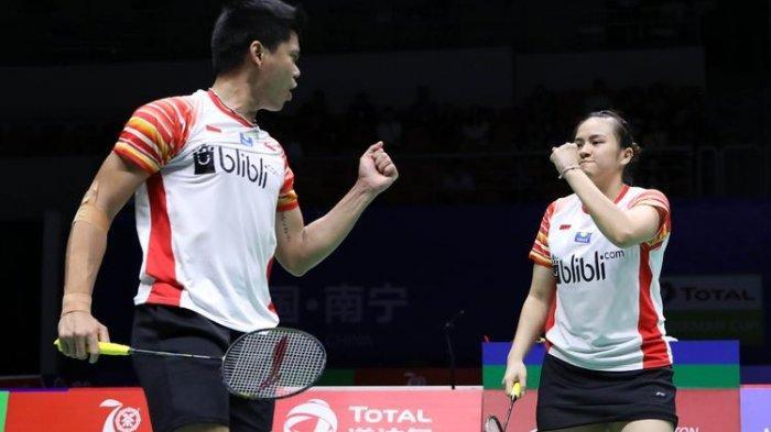 Hasil Fuzhou China Open 2019, Praveen Jordan/Melati Daeva Lolos Babak Kedua Usai Lawan Jepang