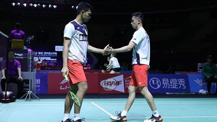 HASIL Fuzhou China Open 2019 Hari ini, Praveen/Melati dan Marcus/Kevin Tembus Perempat Final