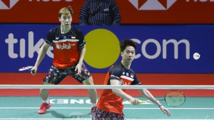 Hasil Japan Open 2019 - Marcus Fernaldi Gideon/Kevin Sanjaya Berhasil Bawa Tiket ke Babak Kedua
