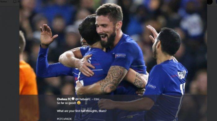 Hasil Lengkap Liga Europa - Chelsea dan AC Milan Menang Besar, tapi AC Milan Belum Aman