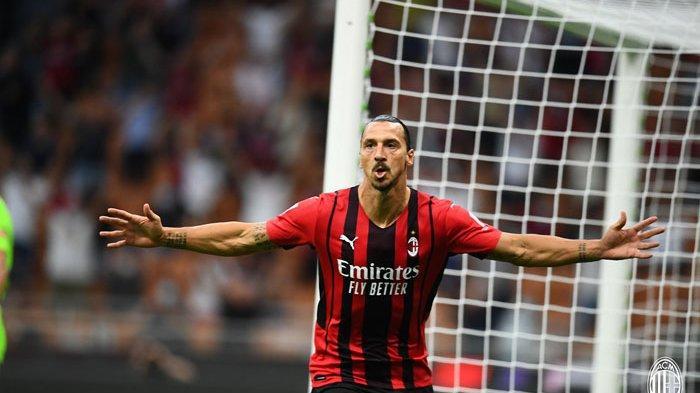 Hasil Liga Italia - Ibrahimovic Sumbang Gol untuk AC Milan saat Camback di Liga Italia