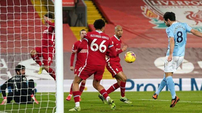Hasil Liverpool vs Man City: Skor Akhir 1-4, The Reds Kebobolan Tiga Gol dalam 10 Menit