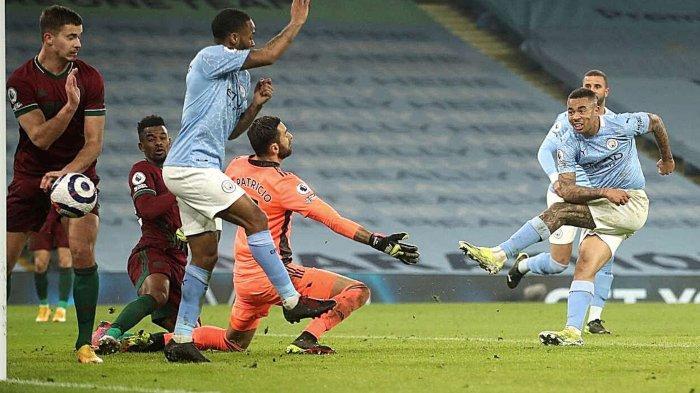 Hasil Man City vs Wolves, Gabriel Jesus cetak brace.
