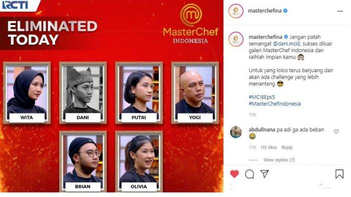 Hasil Masterchef Indonesia 8 Episode 5: Olivia Gagal Taklukan Tantangan Aneka Roti dan Dani Pulang