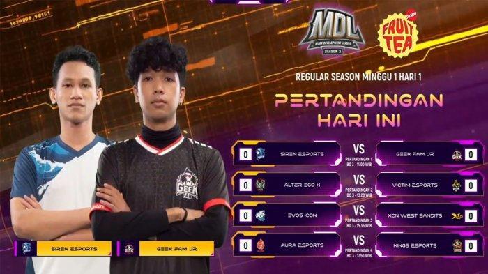 HASIL dan Klasemen MDL Season 3 Week 1: Juara Bertahan Siren Terjungkal, EVOS Tempati Posisi Puncak