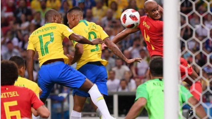 Hasil Piala Dunia 2018 Brasil vs Belgia, Skor Sementara Samba Tertinggal 0-1 Lewat Gol Bunuh Diri
