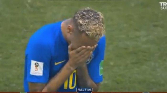 VIDEO MENGHARUKAN Neymar Menangis dalam Kemenangan Telat Brasil Vs Kosta Rika