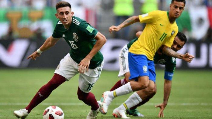 Hasil Piala Dunia 2018 Brasil vs Meksiko, Skor Babak Pertama 0-0, Masih Live Trans TV Malam ini