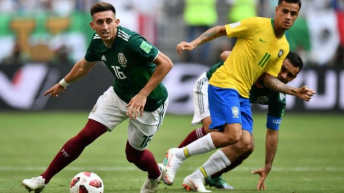 Hasil Piala Dunia 2018 Brasil vs Meksiko, Skor Sementara Neymar Bawa Tim Samba Unggul 1-0