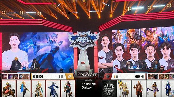 Hasil Playoff MPL Season 6: Grand Final Alter Ego vs RRQ Hoshi, Skor Sementara Sama Kuat 1-1
